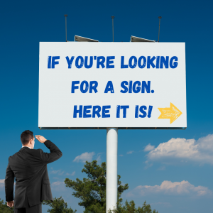 Man, Looking for a Sign