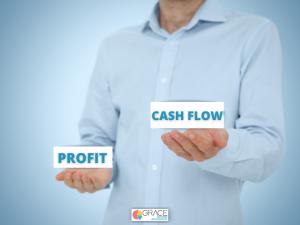 CASH Flow&Profit, balance, hands